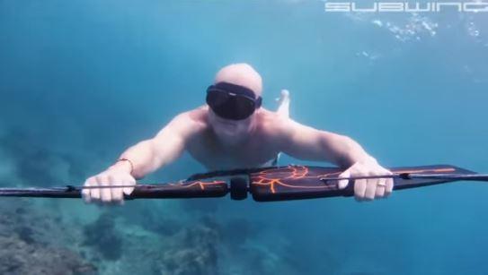 물속에서 비행을?