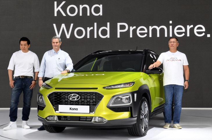 [브릿지포토] 현대자동차 첫 글로벌 소형 SUV '코나' 최초 공개