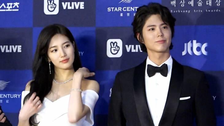 [브릿지영상] `2018 백상예술대상` 수지-박보검, 첫 등장부터 눈호강 시키는 `완벽 비주얼`
