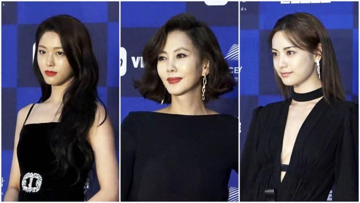[브릿지영상] `2018 백상예술대상` 설현-김남주-나나-문소리, `우아+섹시+노출` 파격적인 블랙 드레스 패션