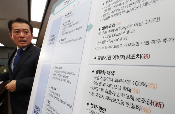 미세먼지 대응강화 방안 발표