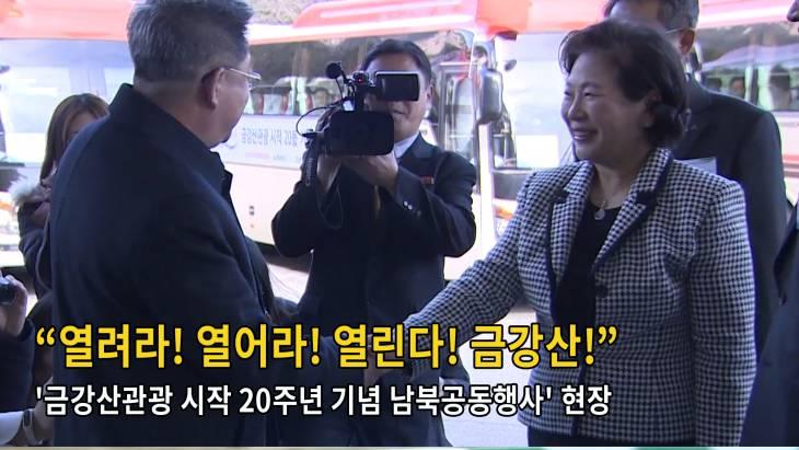 [브릿지영상] `금강산관광 시작 20주년 기념 남북공동행사` 현장