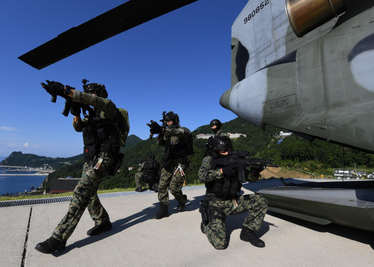 동해 영토수호훈련 실시<YONHAP NO-1480>