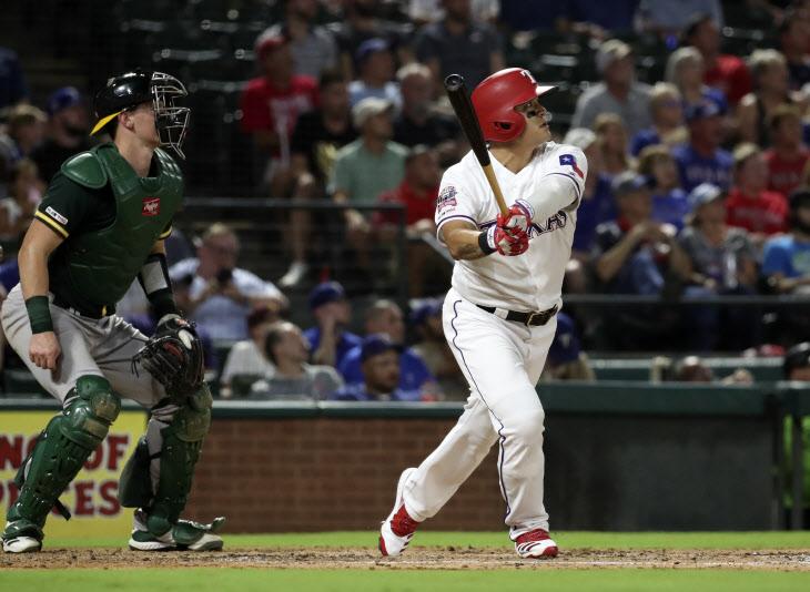 BASEBALL-MLB-TEX-OAK/ <YONHAP NO-0768> (USA TODAY Sports)