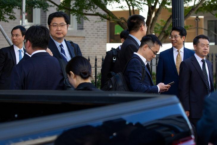 미중 무역 실무협상 마친 중국 대표단