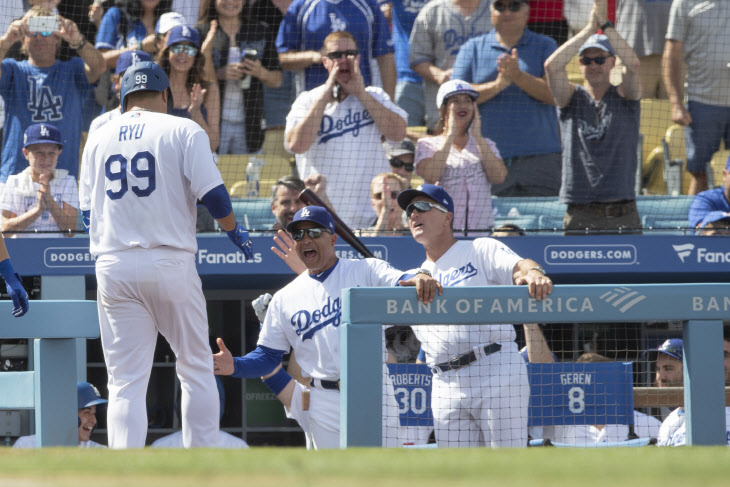 Rockies Dodgers Baseball <YONHAP NO-1586> (AP)