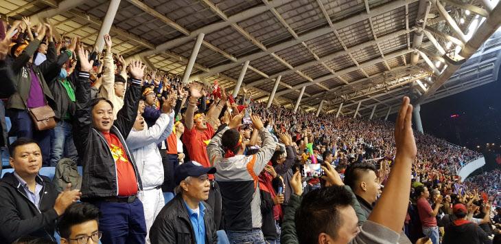 '박항서 매직'에 열광하는 베트남 축구팬들<YONHAP NO-0028>