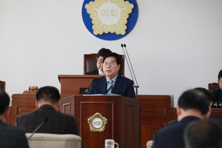 """""""2020년 장성군 발전 골든타임"""" 유두석 군수 시정연설서 밝혀"""
