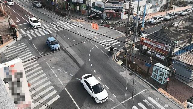 함양 중·고등학교 앞 교차로