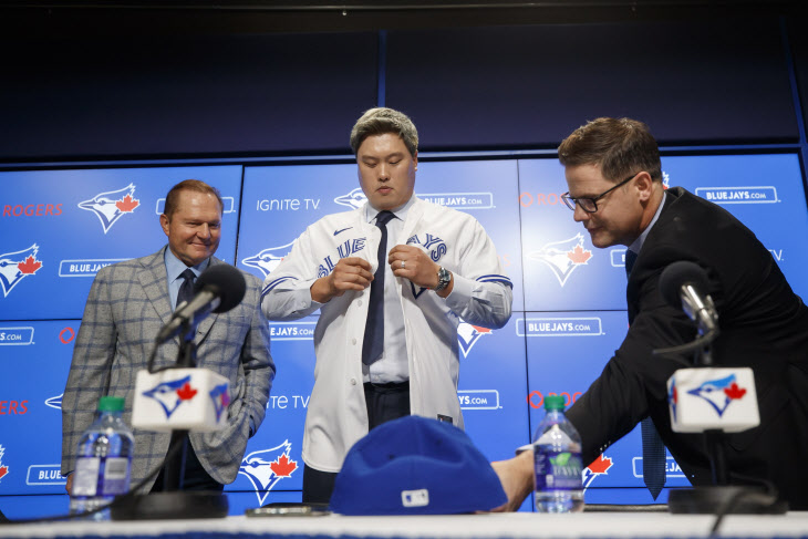 Blue Jays Ryu Baseball <YONHAP NO-0916> (AP)