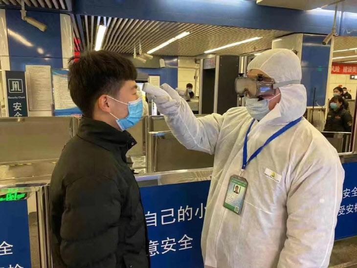베이징시, 지하철 승객 마스크 의무화