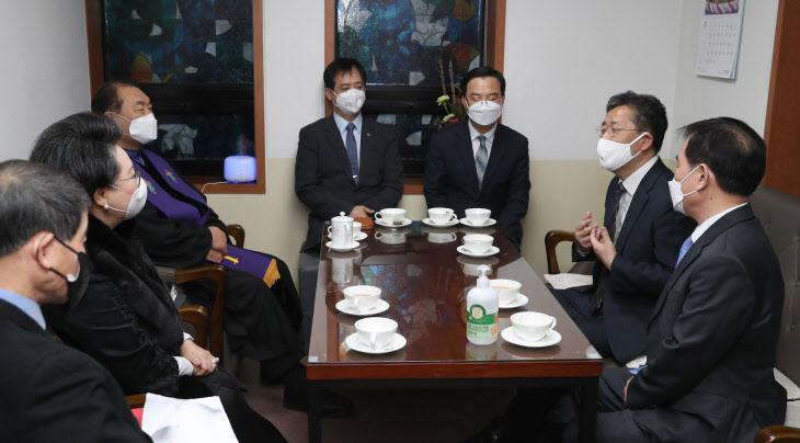 영락교회 방문한 박양우 문화체육부 장관