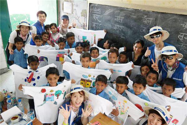 삼성물산 인도에서 학교 환경 개선 및 문화교류 활동 펼쳐