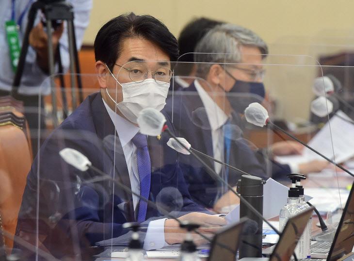 질의하는 박용진 의원<YONHAP NO-3285>