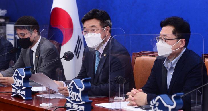 원내대책회의 주재하는 민주당 윤호중